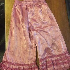 Little girls Disney enchanted satin pants